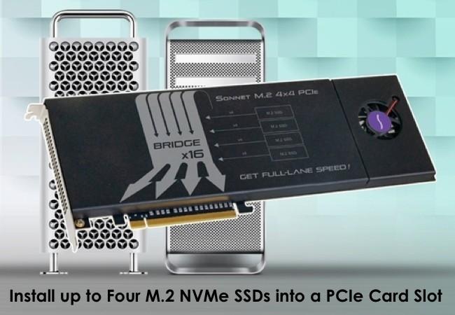 Sonnet M.2 4×4 PCIe Card